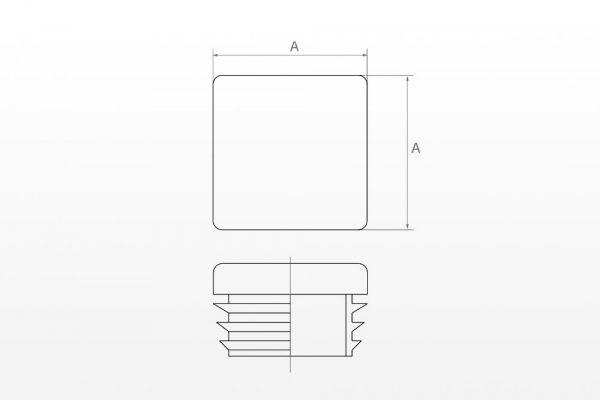 Plastmasinis kamštelis (keturkampis)